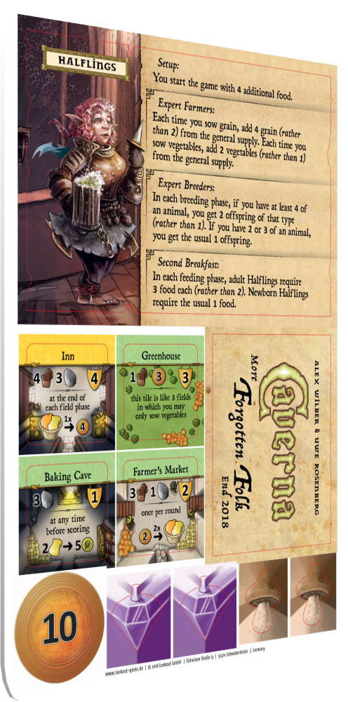 Caverna - The Forgotten Folk: Halflings Promo