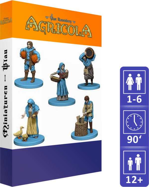 Agricola (Revised Edition): Miniatures (Blue)