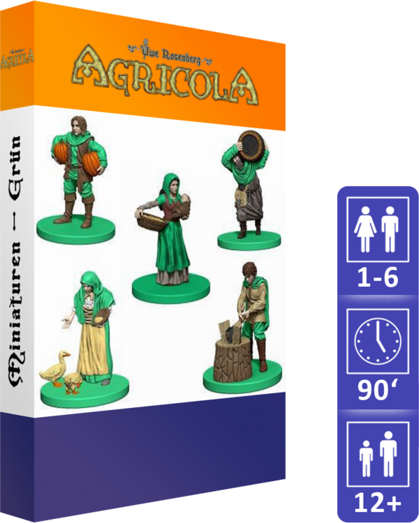 Agricola (Revised Edition): Miniatures (Green)