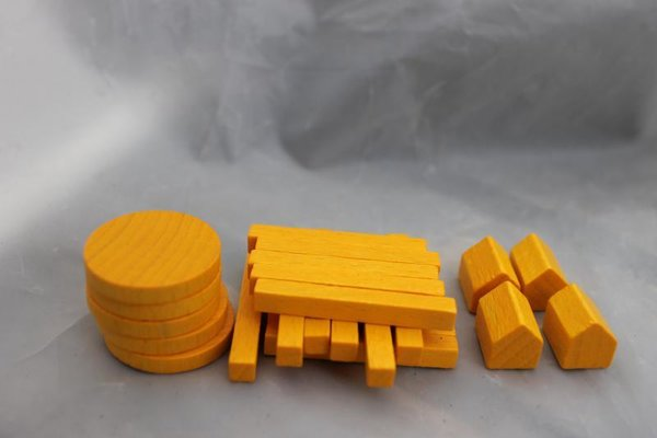 Agricola - Spielsteine (Gelb) / Player pieces (Yellow)